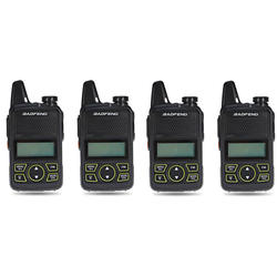 Cuatro Handies Baofeng T1 Mini Uhf Recargable