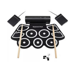 Bateria Electronica Redoblante Flexible Doble Pedal 9 Pads